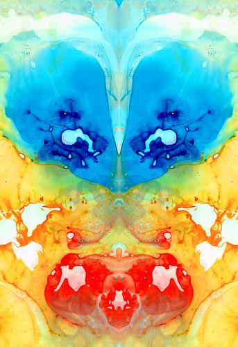 Big Blue Love - Visionary Art by Sharon Cummings