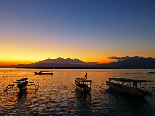 travel sunset sea sunrise indonesia asia seasia southeastasia backpacking gilimeno gilis giliislands