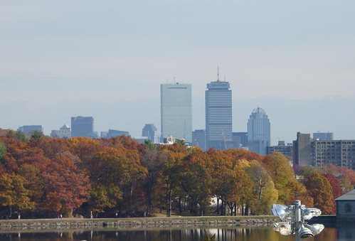 Boston skyline from Alumni Stadium