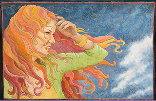 Windblown~ Quilt by Maria Elkins