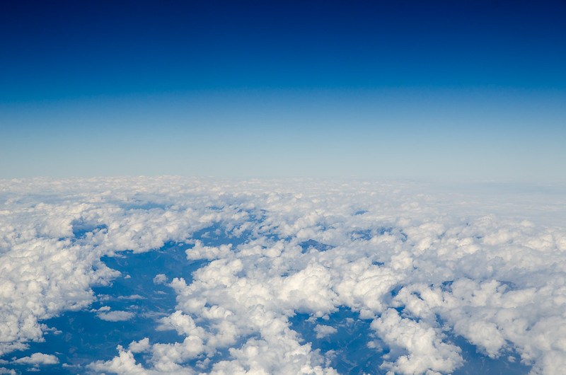 Blue sky and white cloud at Taiwan