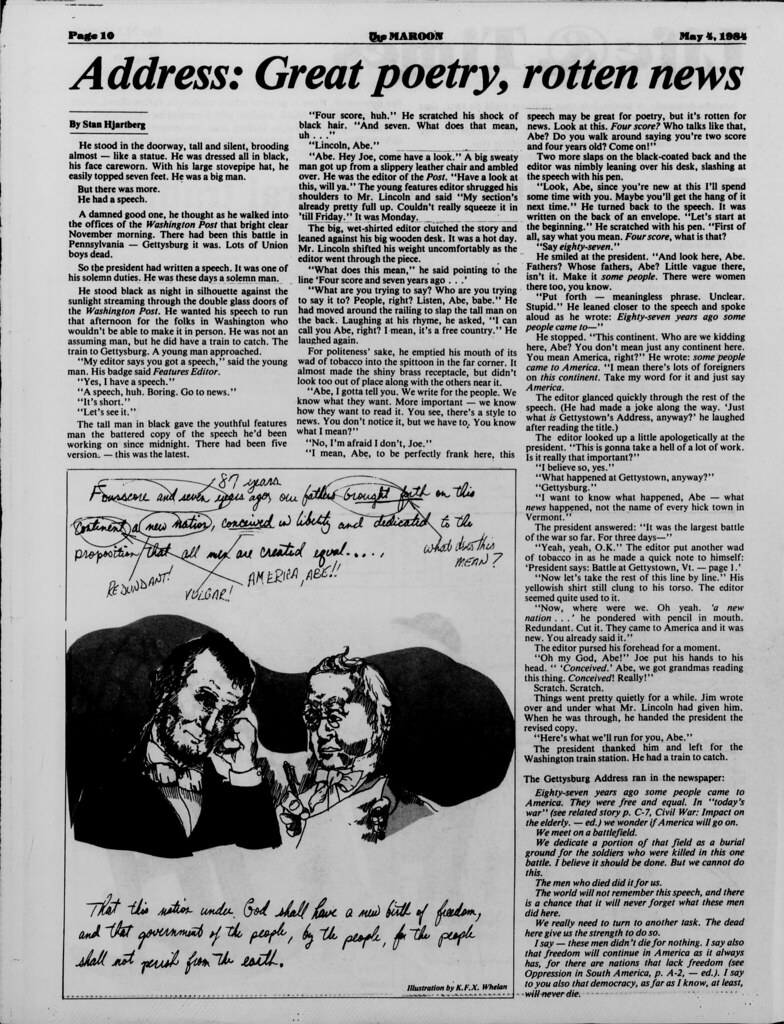 Maroon Article, 1984