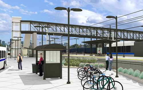 Rendering of 41st and Fox Station on the Gold Line