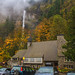 Multnomah Falls Lodge and Footpath by julesnene
