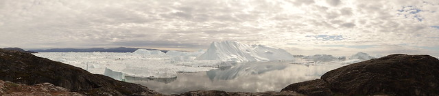 Panoramic view of Ilulissat Icefjord