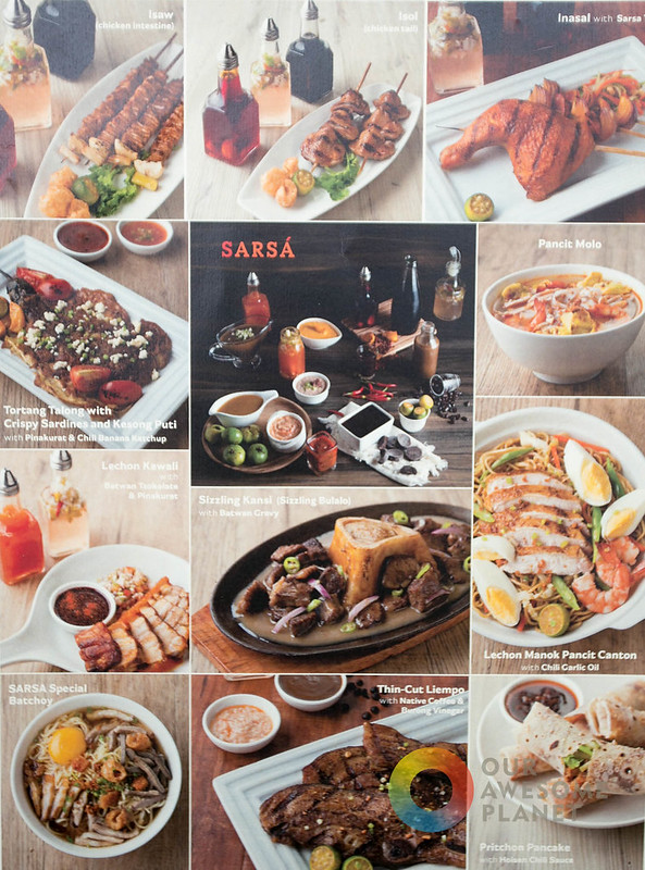 Sarsa Kitchen And Bar Menu