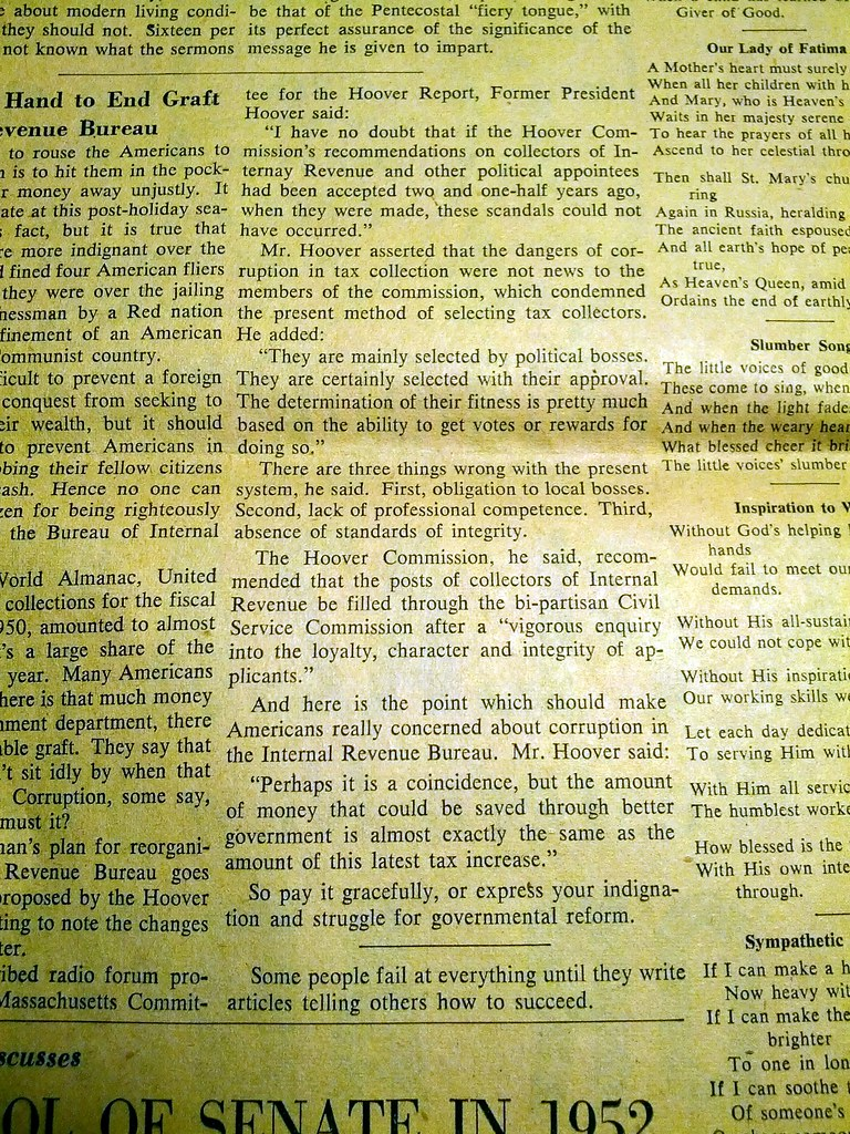 1952 Courier Express News paper