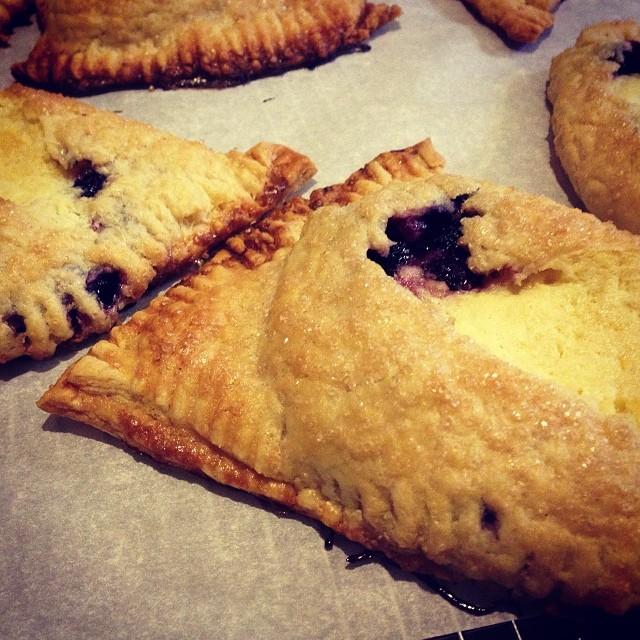 Blueberry cream cheese hand pies.