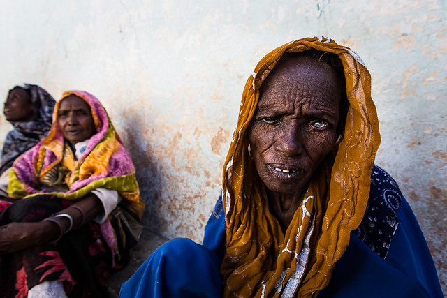 poor women in the old city of harar