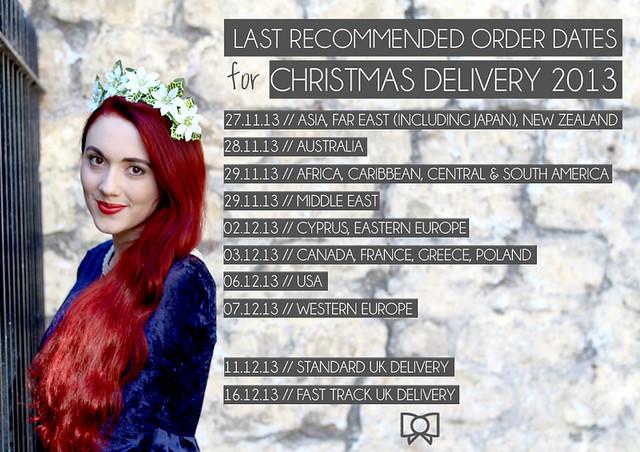 last order dates 2013
