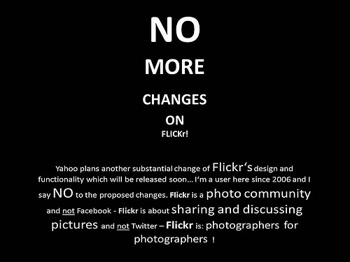 no more changes on Flickr