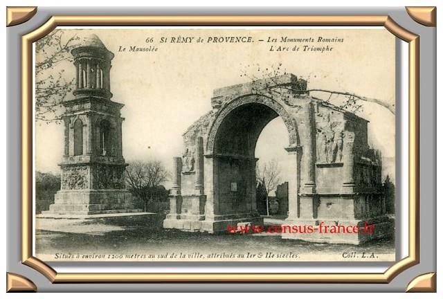 St RÉMY de PROVENCE. - Les Monuments Romains Le Mausolée L'Arc de Triomphe.