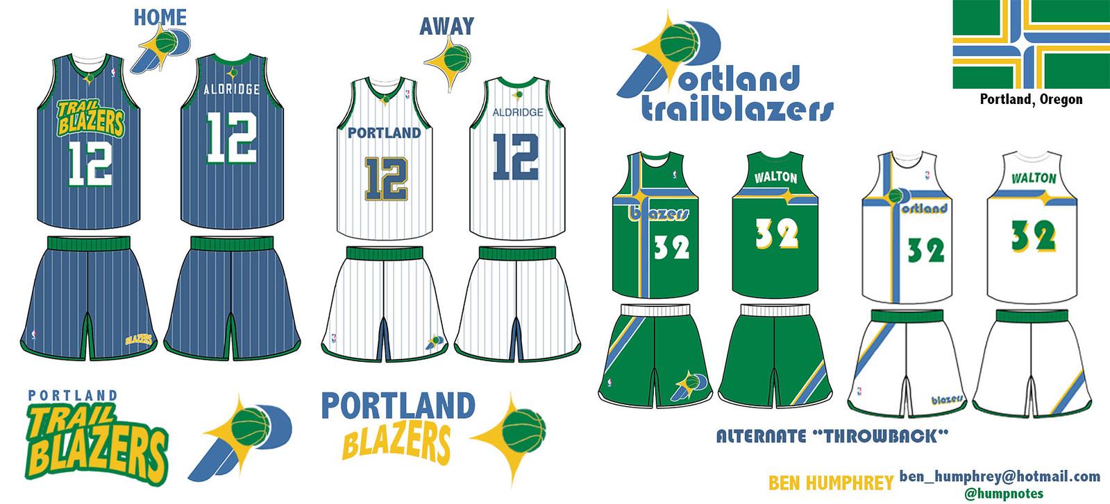 new concept 3dbe7 23f59 green portland trail blazers jersey