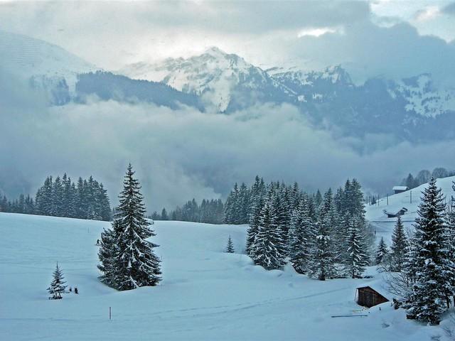 Alpes suizos en invierno
