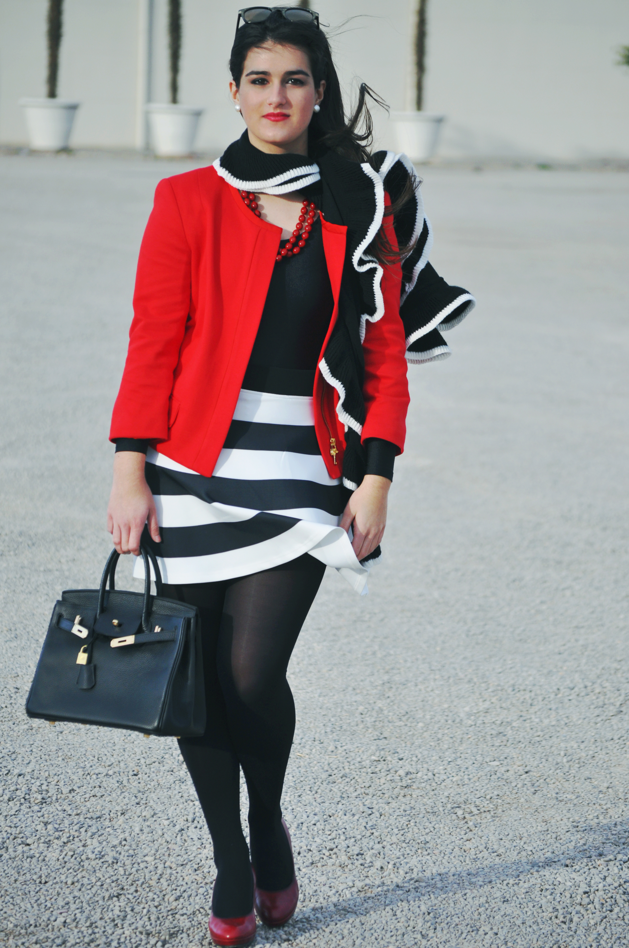 hermes birkin black fashion blogger, spanish fashion blogger mini one car, carrera by jimmy choo sunglasses glitter, neoprene skirt stripes black and white, something fashion blog, mango red blazer, vintage