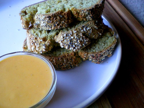 oat soda bread with cheddar beer dip