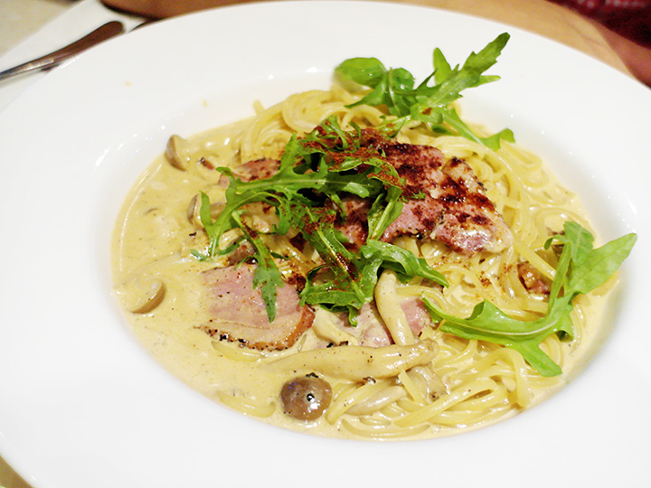 coffee club duck spagetti