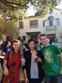 Alumni and other Pomona family members voted for their favorite dorm in fall 2013 -- and Harwood Court won! Current students celebrated with a study break party.