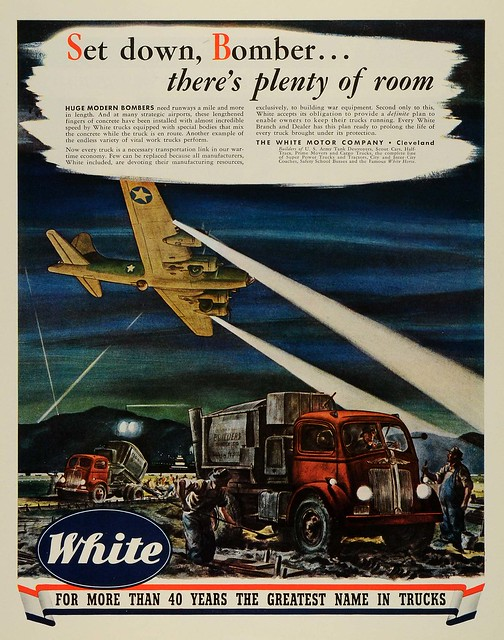1943 ad white motor company cleveland ohio airplane for White motor company trucks