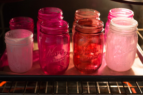 Diy colored mason jars for Pebeo vitrea 160 glass paint instructions