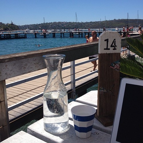 Not a bad spot for a solo working lunch. #hadtogetoutofthehouse #balmoral #sydney #hellosummer #nofilter