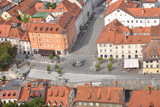 View of the Old Town from Ljubljana Castle