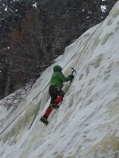 At the Top of My First Ice Climb