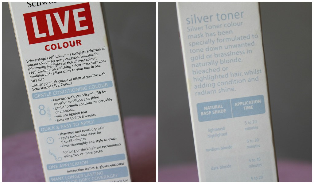 Schwarzkopf live colour toner 8 wash hair non not permanent australian beauty review blog blogger aussie ausbeautyreview color care purple gold blonde shade silver