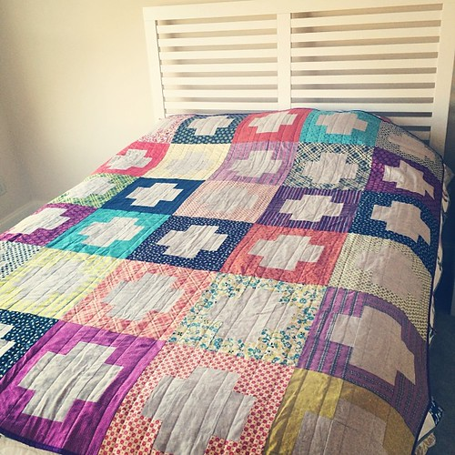 Completed Chicopee Crossing quilt! Listed in my etsy shop