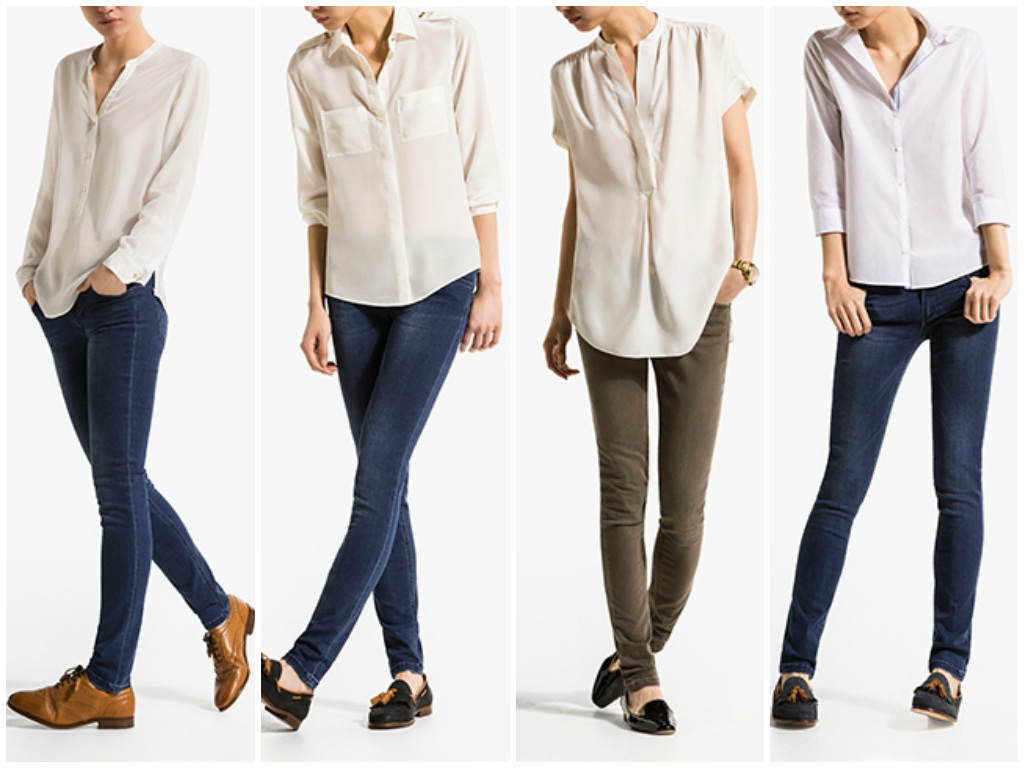 camisa blanca massimo
