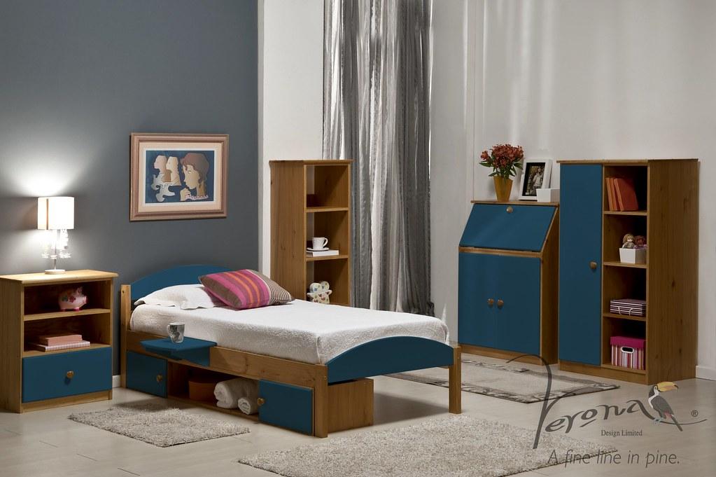 Maximus Bed Frame Antique & Blue - BDFRMAXN3000ABl RS4