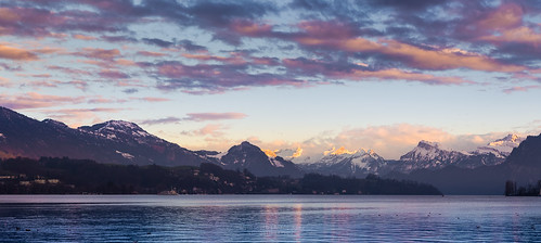 travel sunset sky mountain lake nature water skyline landscape switzerland twilight europe european natural euro swiss traveller lucerne mountainrange lakelucerne