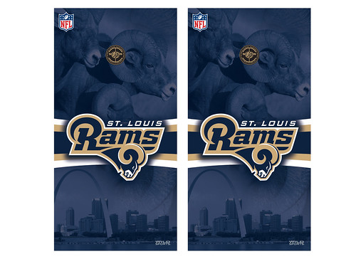 St Louis Rams Cornhole Game Decal Set
