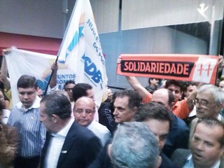 Solidariedade participa de ato em apoio a Aécio Neves em Cotia-SP