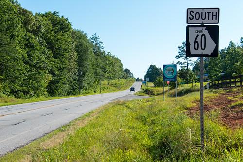 georgia spur northcarolina highwaysign sweetgum sr60 stateroute60 fannincounty nikond800