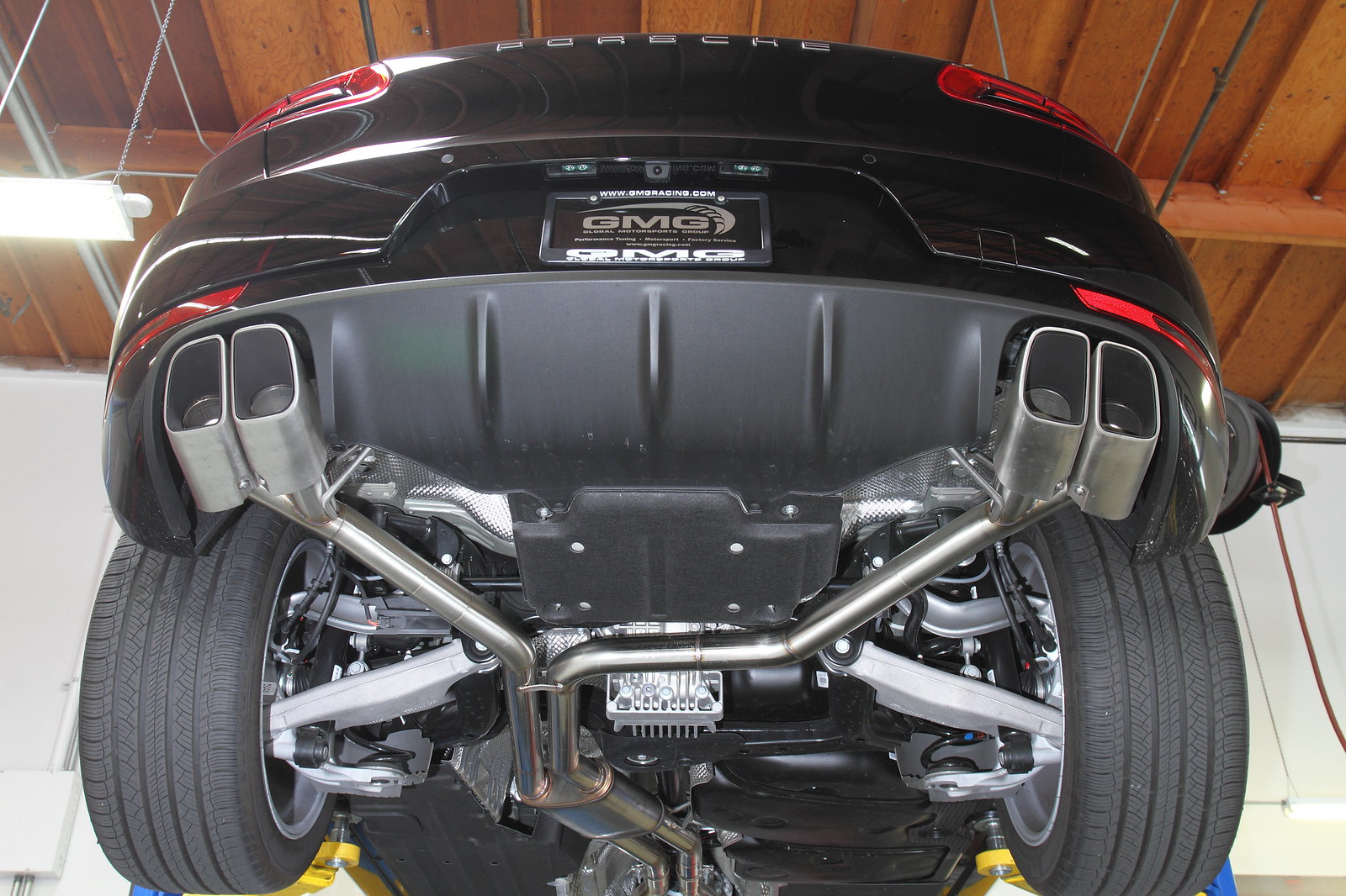 new gmg racing porsche macan turbo cat-back exhaust now available
