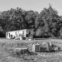 Trailer Home in Black and White - Flowery Branch, Georgia