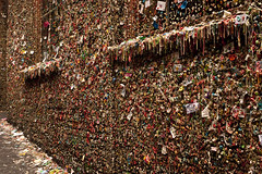 Pike Place Market gum wall in alley