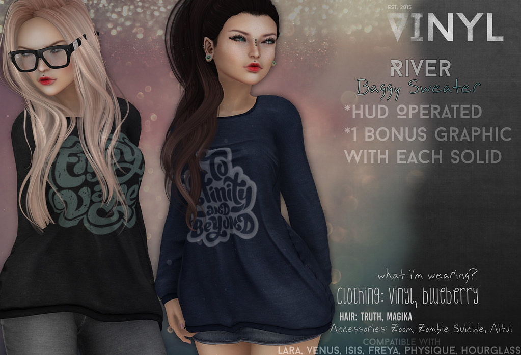 River Baggy Sweater @ MBA - SecondLifeHub.com
