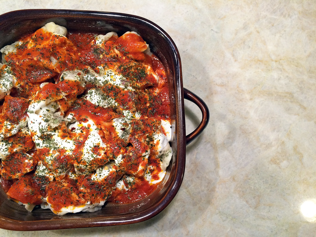 Manti with tomato butter and yogurt