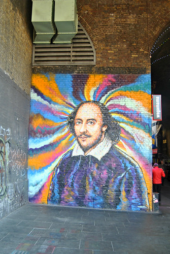 William Shakespeare Mural Bankside London 2016