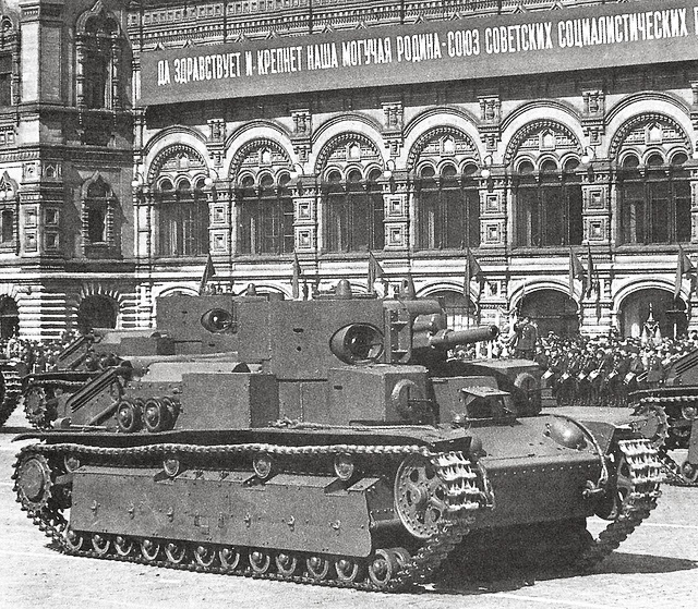 T-28 tanks in red square 7th November 1940