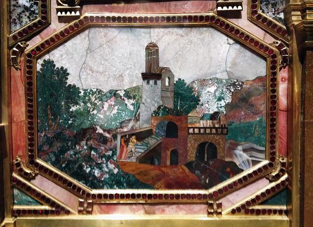 Detail, Pietra Dura Ornate Chest, Image © Nicola Anthony