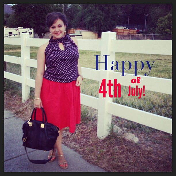 Hope you day was filled with good food and better company! #4thofjuly #independenceday #redwhiteandblue #ootd #wiw #whatiwore #outfit #stylediaries #igstyle #me