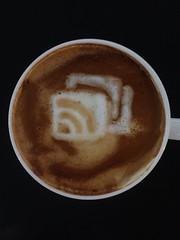 Today's latte, Goodbye Google Reader!