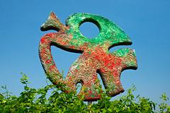 Sculpture dans le labyrinthe
