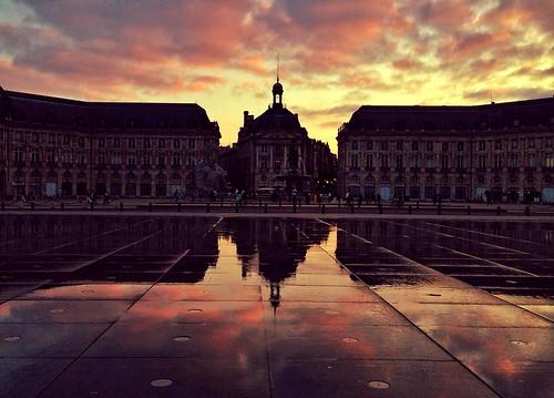 Sunset over Place de la Bourse [iPhone 5]