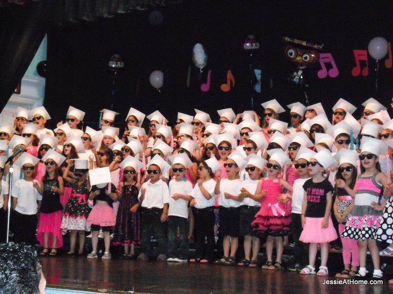 Vada-checks-out-her-belly-button-kindergarten-graduation-June-2013