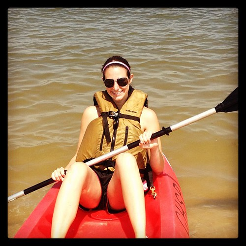 Ocean kayaking while on vacation. Finally a workout I can do without my foot bothering me.