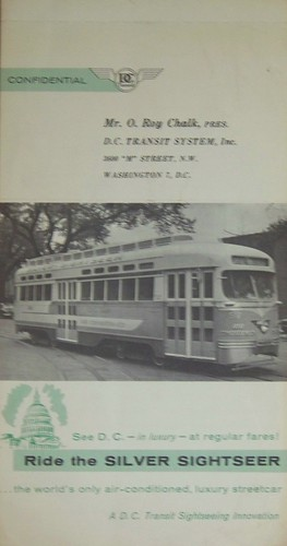 DC Transit Silver Sightseer brochure, cover